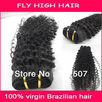 Hot sale deep curl  6'-32' inch virgin brazilan hair ,wholesale brazilain  hair weft