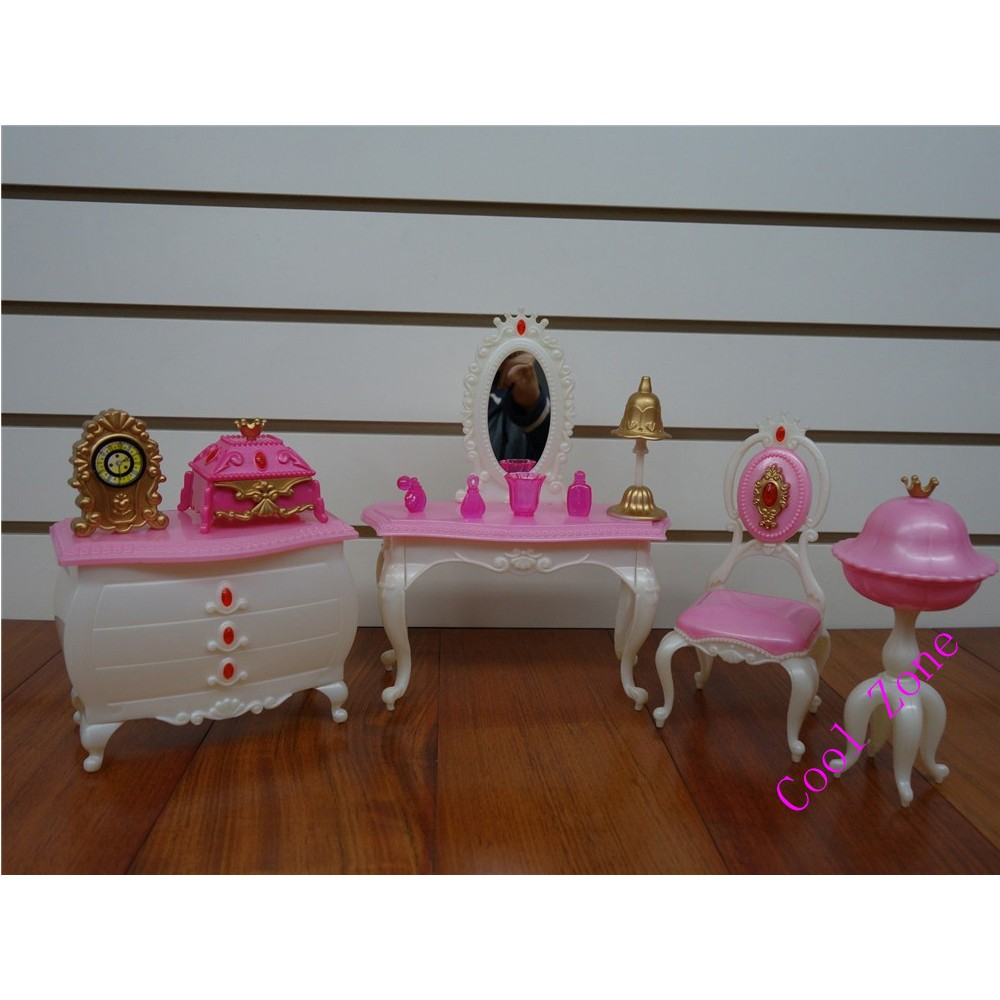 Miniature Furnishings Princess Room for Barbie Doll Home Faux Play Toys for Lady Free Delivery