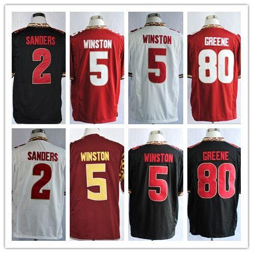 2 Deion Sanders 5 Jameis Winston 80 Rashad Greene jersey cheap stitched American Florida State Seminoles FSU college football(China (Mainland))