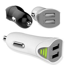 Micro USB phoneCar chargeur 2.1A 2 porto double USB chargeur de voiture adaptateur pour iphone 5 6 6 plus pour samsung pour htc convention électronique(China (Mainland))