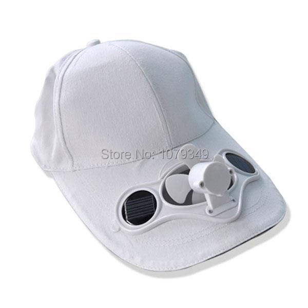 solar power hat cap cooling cool fan for golf baseball jpg