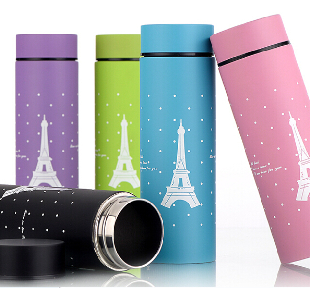 Wholesale new stainless steel vacuum flask Custom logo Fashion male and female students Small gifts Cup Straight Cup(China (Mainland))