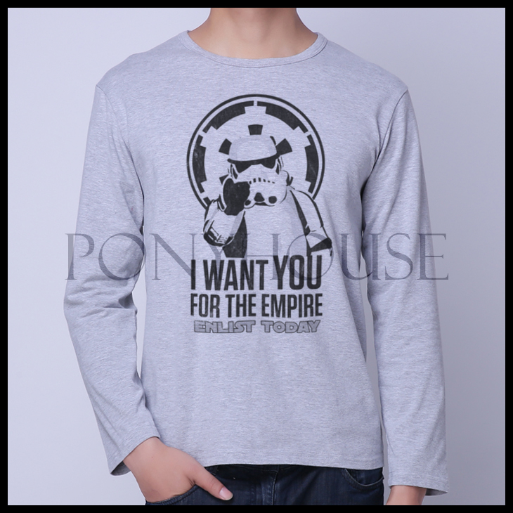 2015D FCX ENLIST STORMTROOPER STAR WARS winter men's shirt with long sleeves(China (Mainland))