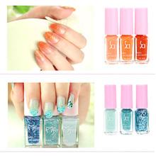Nail Art Tools Fashion Magic Three-color Gradient Nail Polish Set Environmental Health Candy Colors Nontoxic(China (Mainland))