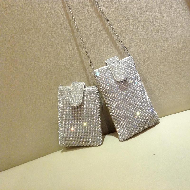 High quality fashion diamond luxury mini phone bag ladies handbag shoulder bag clutch evening bag purse wallet free shipping<br><br>Aliexpress