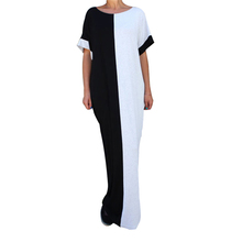 Buy 2017 Summer Loose Casual Long Maxi Dress Europe&America Style Women Elegant Patchwork Short Sleeve Dresses Robes Plus Size 2XL for $12.89 in AliExpress store