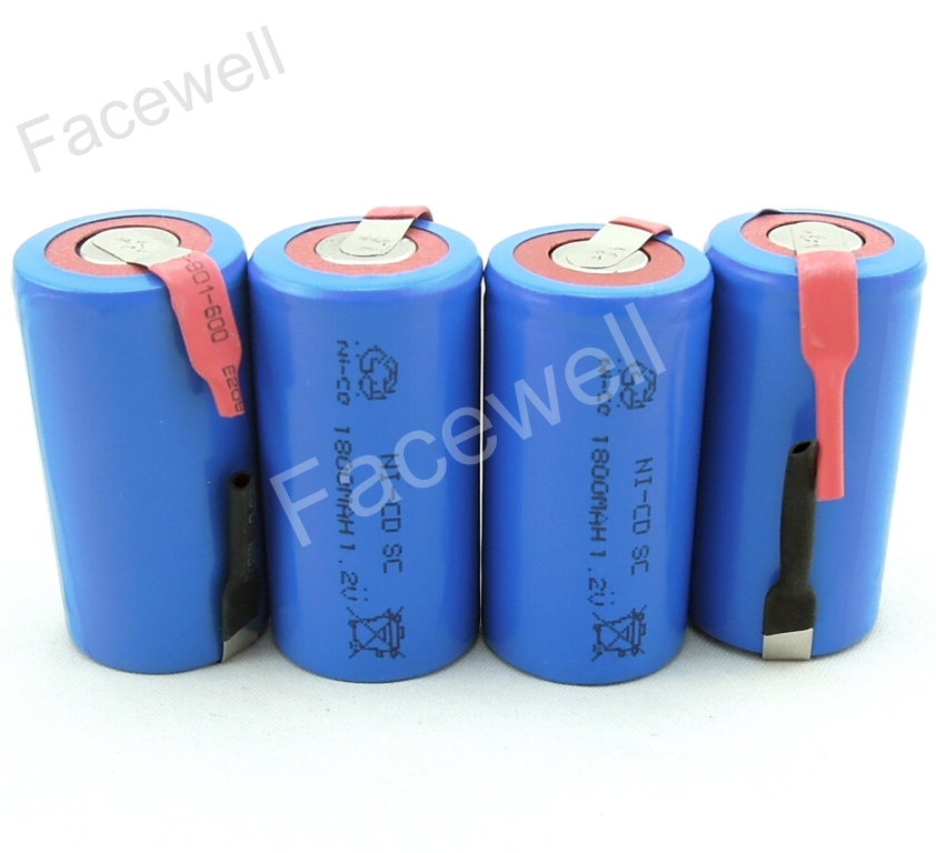 10pcs/lot Sub C SC 1.2V 1800mAh 20A Ni-CD rechargeable battery sc 1.2v pack bateria recargable sc sub c nicd 1.2V cell subc nicd(China (Mainland))