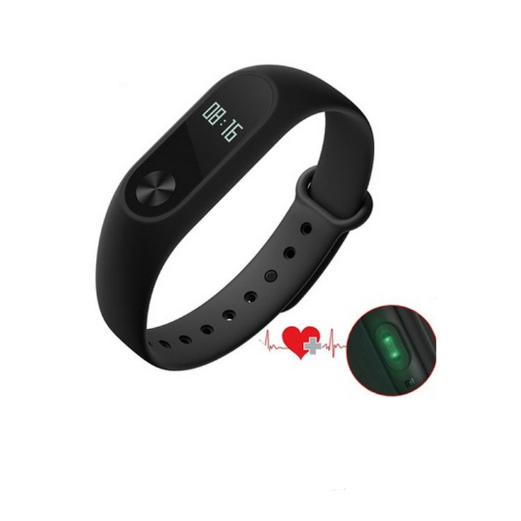 100% Original for Xiaomi Mi Band 2 Smart Bracelet Bluetooth Heart Rate Fitness Tracker Monitor Pedometer IP67 Wrist band(China (Mainland))