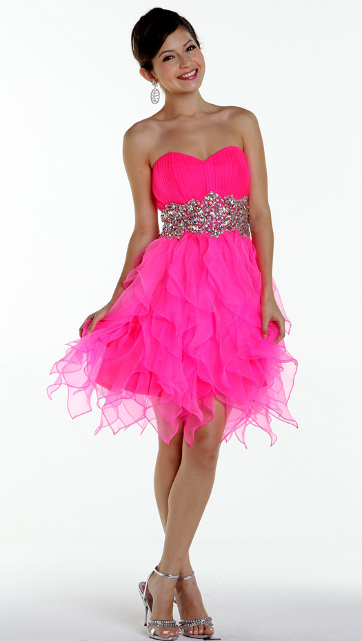 Pink short prom dress - ChinaPrices.net