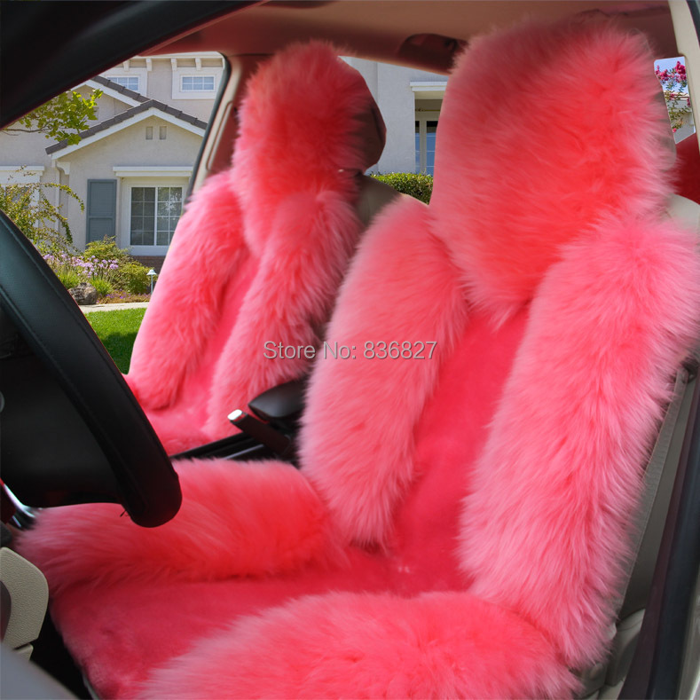FLUFFY PINK CAR SEAT COVERS On The Hunt