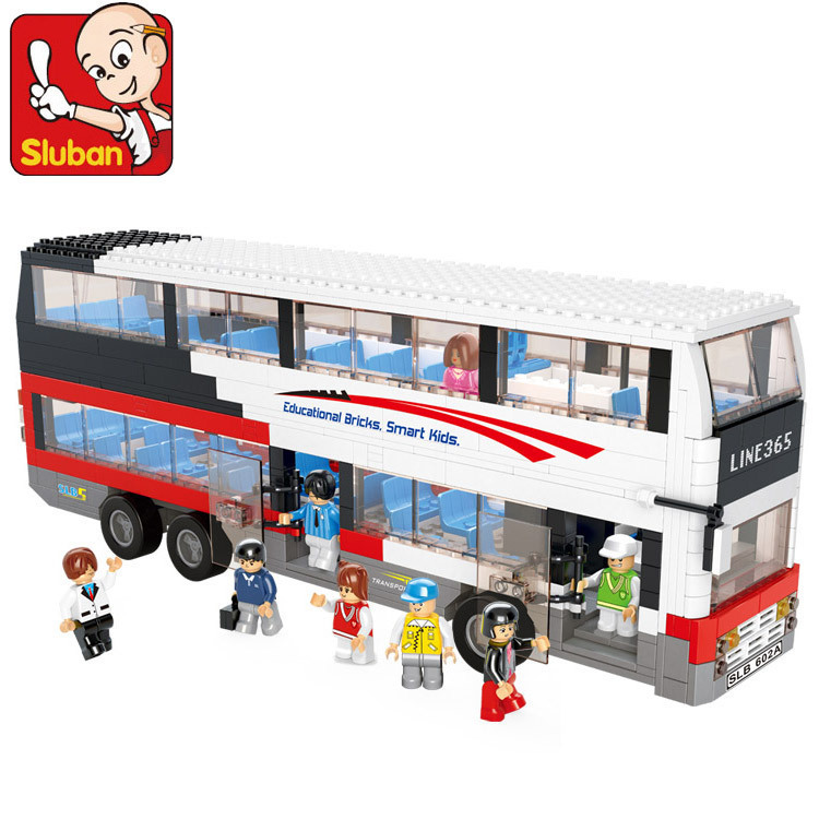 Sluban B0335 A Double Decker Bus 741 Pieces ABS Plastic Building Block Sets Toys For Children Compatible With Lego<br><br>Aliexpress