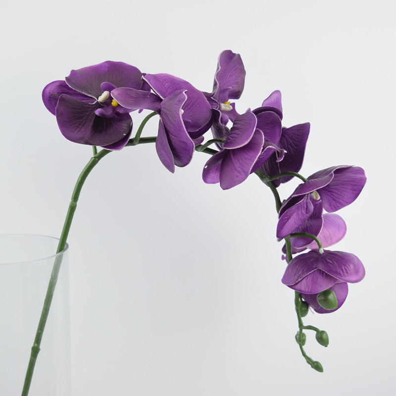good quality artificial phalaenopsis flowers single pu butterfly orchid 12 pcs/lot real touch flores artificiais wedding decor(China (Mainland))