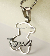 2015 fashion women and men love bear necklace high quality little bear necklaces with bear Pendants(China (Mainland))