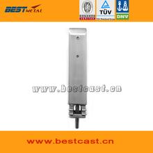 Satin Polish BEST METAL Duplex 2205 Square core drill glass spigots for frameless glass swimming pool handrail railing(China (Mainland))