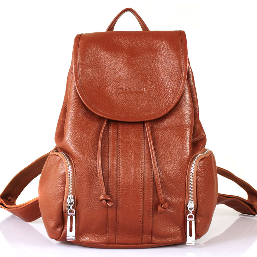 First layer cowhide female bag genuine leather preppy style women's casual travel - shangqin luo's store