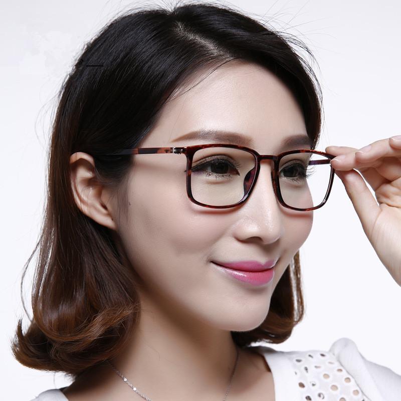 Plain Mirror Eye Glasses Women and Mens TR 90 Large Box Optical Glasses Frames(China (Mainland))