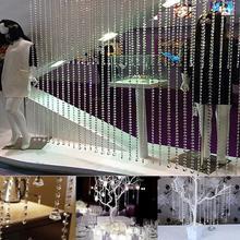 33ft/10M Wedding DIY Decor Diamond Acrylic Crystal Beads Curtain Strand Garland(China (Mainland))