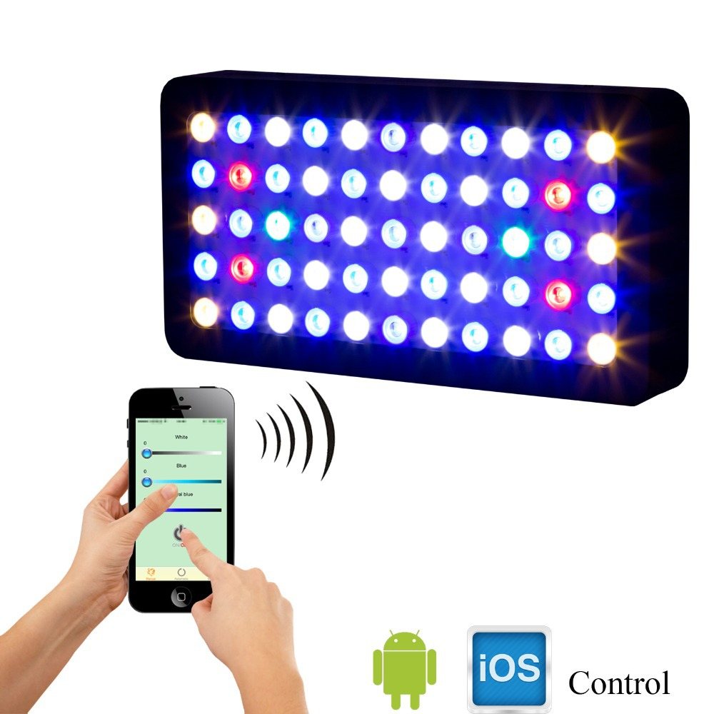 WIFI Controlled US/DE Stock 100% high quality Wholesale 165W Led Aquarium Lights for Coral Reef Benthon(China (Mainland))