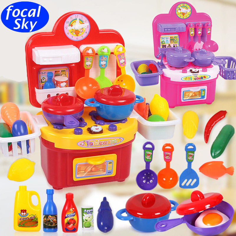 Play Toys For Girls : Hot children kitchen toys for girls cooking kids
