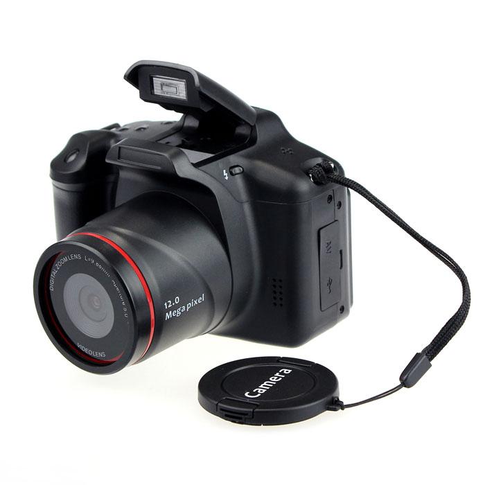"2016 new Digital SLR shape Camera Infrared Lens 2.8"" 720P Switching Value Bundle Digital Cameras 12MP(China (Mainland))"