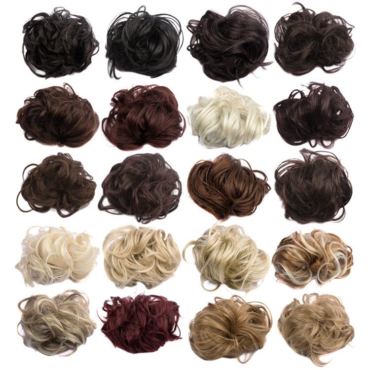 Black Hair Bun Pieces Pieces Hairpieces Hair Bun