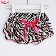 Newborn Baby Boys Girls Satin Ruffle PP Shorts Pants Baby Kids Leopard Bowknot Bloomers Skirt Dress
