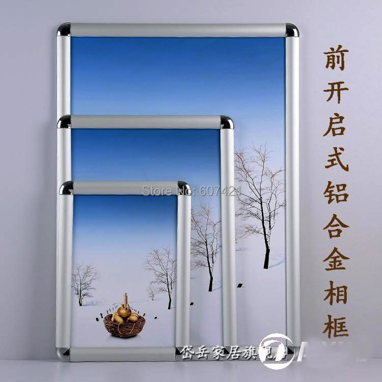 (5units/Lot) A1 Clip Open Aluminium Snap Clip Shut Display Frames With Rounded Safety Corners(China (Mainland))