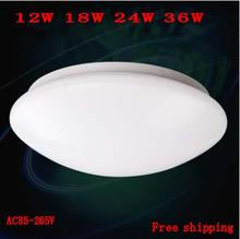 Acrylic led ceiling light lamp living room light warm white/white modern restaurant /Bathroom lamp 12W18W24W36W led lighting(China (Mainland))
