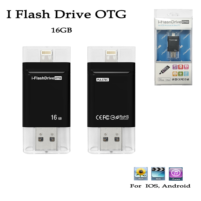 I-Flash Drive OTG 16GB USB U-dick and for choose 8-64GB Flash Memory Stick Card for IOS andriod Mobile phone adapter