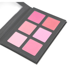 Blush Palette Makeup Blusher 1 set 6 Colors Blusher Colored Pro Blush Set Full Size 6001(China (Mainland))