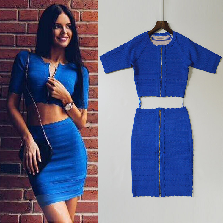 White,Black and Blue Color Ladies Sexy 2 Pieces Half Sleeve Mini Dress Front Zipper Sexy Evening Party Dress Одежда и ак�е��уары<br><br><br>Aliexpress