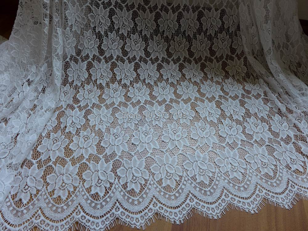 Buy white scalloped lace fabric vintage for Fabric supply
