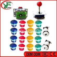 Arcade kits Bundle including zippy 4/8 way joystick push button 1P 2P button for DIY contoller for arcade game/Mame/Raspberry(China (Mainland))