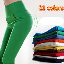 2015 Candy Color pencil pants skinny women pants women With 4 Pockets Trousers Fit Lady Jeans leggings plus size  S-XL 15 Color