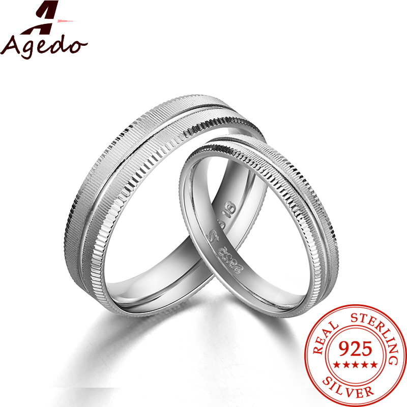 dazzling fashion frosted couple rings solid real 925 sterling silver jewelry white 18k gold plated 1 - Wedding Ring Prices