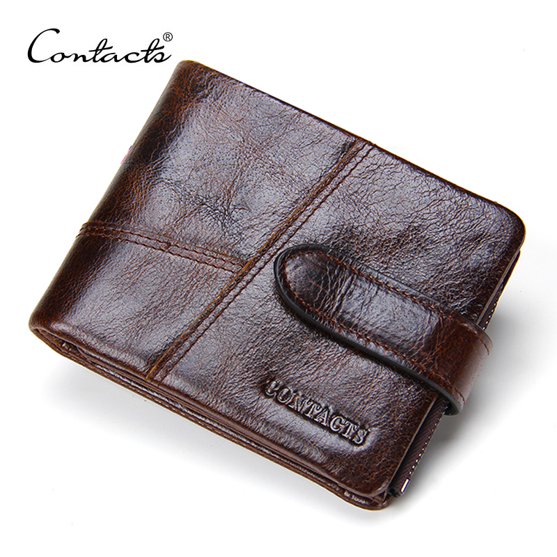New Arrival Classical Crazy Horsehide Leather Men Wallets Genuine Leather Small Wallet Zipper Design Purse Card Holder Coins Bag(China (Mainland))