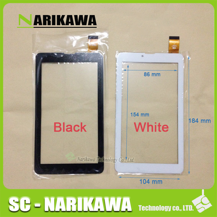 "10pcs Black or White New 7"" Tablet XF20140621 HK70DR2429 Touch screen digitizer panel replacement glass Sensor Free Shipping(China (Mainland))"