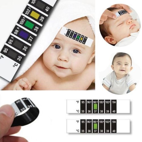 2015 New 1 x Forehead Head Strip Thermometer Fever Body Baby Child Kid Test Temperature Hot Selling(China (Mainland))
