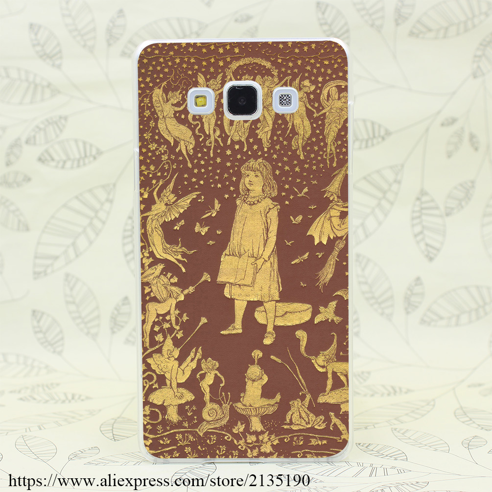187L Brown Fairy Book Hard Case for Samsung A3 A5 7 8 J5 7 & Note 2 3 4 5 7 for Huawei P6 7 8 9 Lite Plus Honor 4C 4X G7(China (Mainland))