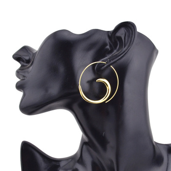 1Pair Fashion New Gold /Silver Tone Earring 1.6