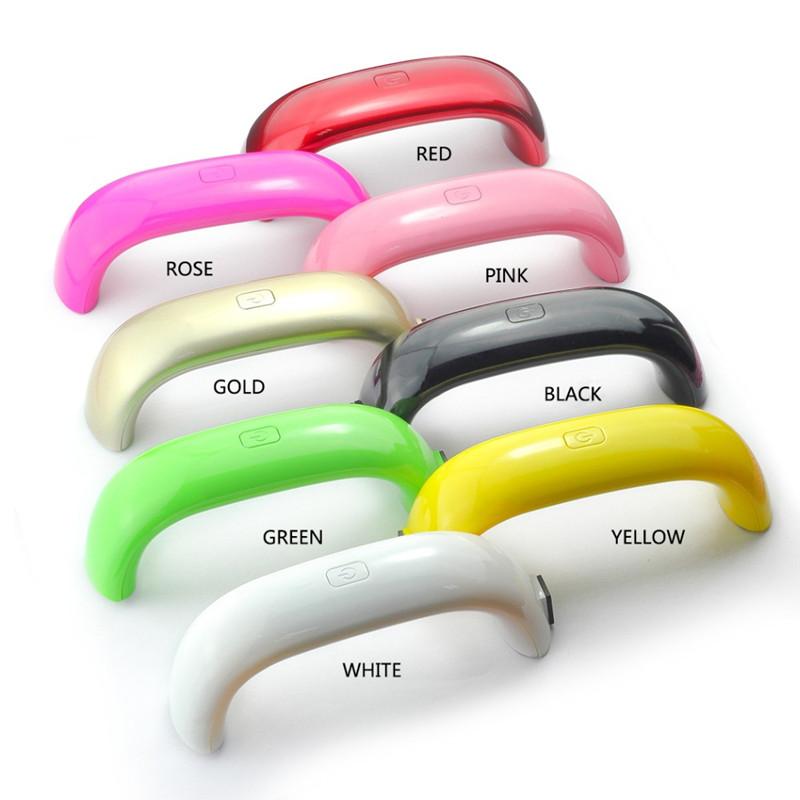 Portable USB Mini Nail Dryer LED Nail Lamp Rainbow 9W Ultraviolet Curing Lamp For UV Gel Nail Polish Nail Art Tools GI2356
