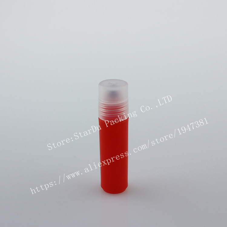 Free shipping 15pcs/lot 2ml plastic roll on bottles for essential oils, roll-on refillable perfume bottle