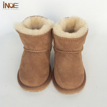 Free Shipping Girls Baby First Walkers sheepskin leather fur toddlers cheeper children boys winter shoes high quality snow boots(China (Mainland))