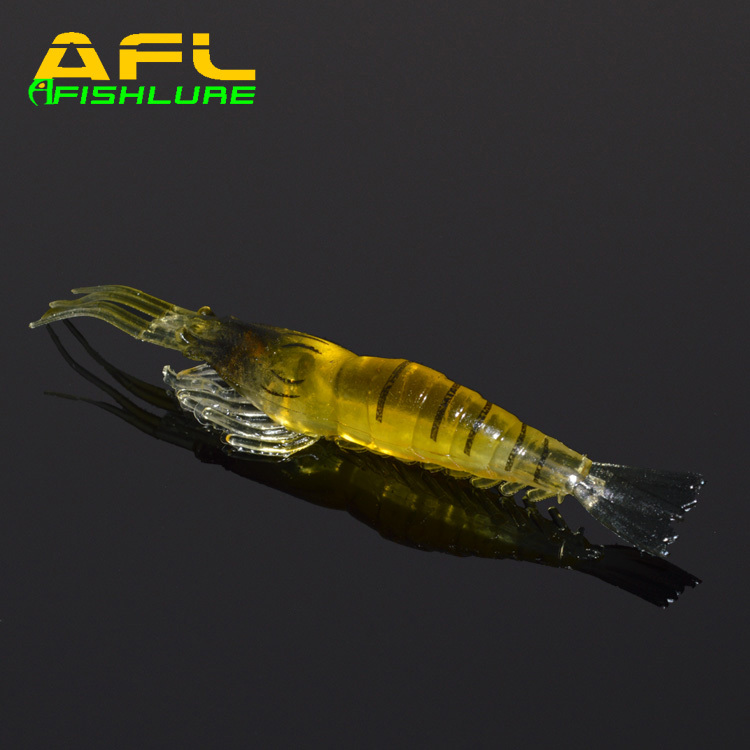 Free Shipping Afishlure AR-20 soft shrimp top quality 90mm 3.5g artificial bait plastic lure 5pcs/lot hot sales(China (Mainland))