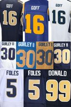 2016 new draft Jared Goff #16 Jersey 30 Todd Gurley II Jersey 99 Aaron Donald Jersey 5 Nick Foles sttiched shirts (China (Mainland))
