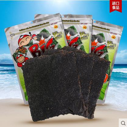 Thai imports. Tao Kae Noi laver. Large roasted seaweed. (a classic flavor). 60 g 10 pieces<br><br>Aliexpress
