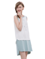 2017 New Arrival Plus Sleeveless Nightgown Loose Letter Printing Women Summer Cotton Nightdress 1764