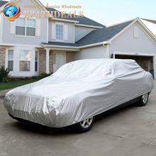 L Size Full Auto Car Cover Waterproof Heat Anti UV Scratch Sun Snow Dust Rain Resistant Protection(China (Mainland))