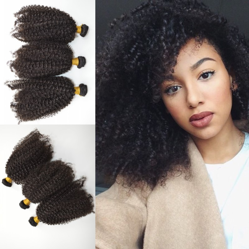 Unprocessed 8A Peruvian Virgin Hair Wefts Afro Kinky Human Hair Weaves 3c/4a Kinky Curly Hair Extensions 6pcs lot Free Shipping<br><br>Aliexpress