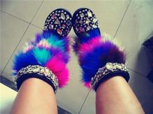 Rhinestone cristal hechos a mano Botas de invierno caliente 2015 nuevas mujeres Botas de piel de avestruz lana Botas de nieve auténtica mujer zapatos de cuero Botas(China (Mainland))